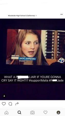 Jade Armenio speaking to ABC 7 News.